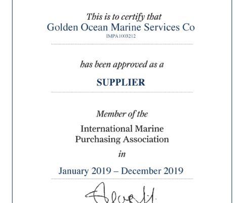 IMPA Certificate